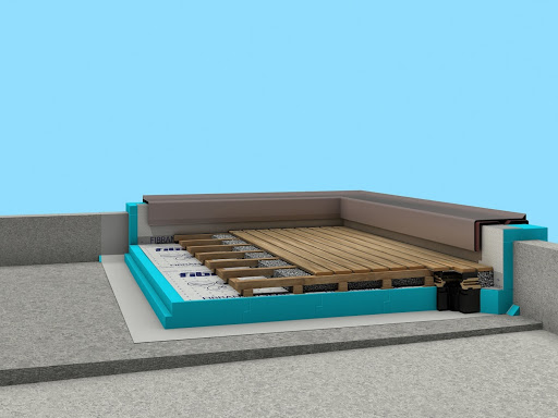 Inverted flat roof